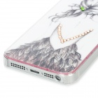 View of a Girl's Back Pattern Plastic Back Case for Iphone 5 - Black + Pink + White