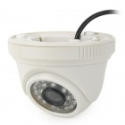 AD-3312 PAL CMOS Video Camera w/ 24-IR LED Night Vision - White