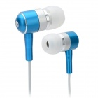 GENIPU GNP-58 Fashion In-Ear Earphones w/ Bud - Blue + White