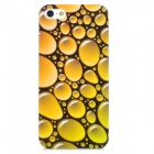 Water Bubble Pattern Protective Plastic Hard Back Case for Iphone 5 - Yellow