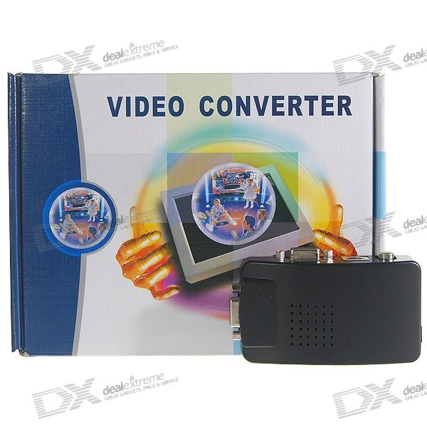 TV Composite + S-Video/VGA adaptateur Box - Max 1024 * 768px (NTSC/PAL)