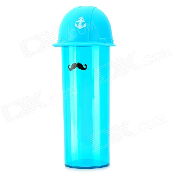 Creative Cartoon Navy Style Plastic Cup w/ Strap - Blue