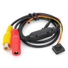 1/3'' CMOS Mini Color Wide Angle Camera - Black + Red + Yellow (12V / PAL)