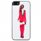 Beauty's Back Pattern Protective Plastic Back Case for Iphone 5 - Red + White + Pink