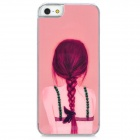 D4-009 View of a Girl's Back Pattern Plastic Back Case for Iphone 5 - Pink
