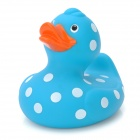 Spotted Duck Style Rubber Latex Bath Toy for Baby - Blue + White