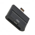 2-in-1 30-pin + Micro USB Female to 8-pin Lightning Male Adapter for iPhone 5 - Black