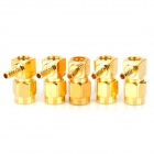 Copper SMA-JW-C-1.5 RF Coaxial Connector Adapter - Golden (5 PCS)