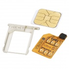 Gevey Unlock SIM Card W/ Card Tray Holder for iPhone 4S - Silver + White
