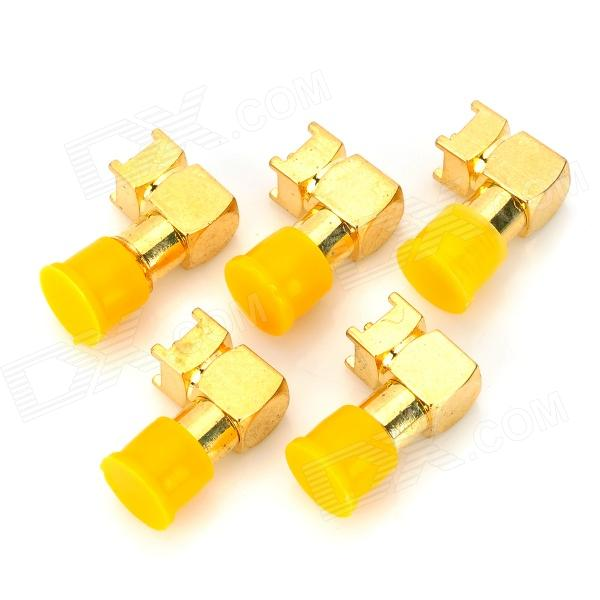 Copper RF SMA-JWE Coaxial Connector Adapter - Golden (5 PCS) copper sma jw c 1 5 rf coaxial connector adapter golden 5 pcs