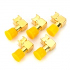 Copper RF SMA-JWE Coaxial Connector Adapter - Golden (5 PCS)