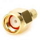 Copper SMA-J-3 RF Coaxial Connector Adapter - Golden (5 PCS)