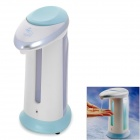 Movable Automatic Sensing Hands-free Hand Sanitizer / Liquid Soap Dispenser - White + Blue