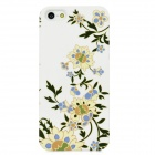 Blooming Flower Pattern Plastic Back Case for Iphone 5 - White