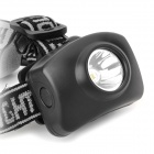 6611B 5W 130lm White Light LED Headlamp - Black (3 x AAA)