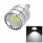 E14 5W 600lm 6000~6500K 1-LED COB White Light Spot Lamp - Silver + White (85~265)