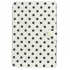 Dot Pattern Protective PU Flip-Open Case w/ Magnet for Ipad MINI - White