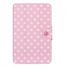 Dot Pattern Protective PU Flip-Open Case w/ Magnet for Ipad MINI - Pink