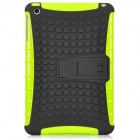 Protective Silicone + Plastic Back Case w/ Stand Holder for Ipad MINI - Green + Black
