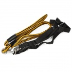 Durable Pet Nylon Braided Robe Dog Training Leash Strap - Black + Yellow