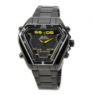 WEIDE WH1102-BY Dual Display LED Digital + Analog Water Resistant Wrist Watch - Black (2 x SR626)