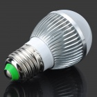 TH-LED-4-B E27 4W 350~450lm 3500K 4-LED Warm White Lamp - Silver + White (85~265V)