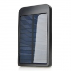 Portable 2600mAh Solar Power Battery Charger w/ Adapters for Nokia / Samsung + More - Black