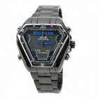 WEIDE WH1102-BL Dual Display LED Digital + Analog Water Resistant Wrist Watch - Black (2 x SR626)