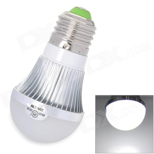 TOHDA TH-LED-2-B2 E27 180~250lm 6500K 2-LED White Light Lamp - Silver + White