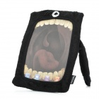 Cute One-Eye Cartoon Style Protective Flannelette Case for iPad Mini - Black