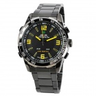 WEIDE WH-1009-BY Dual Display LED Digital + Analog Water Resistant Wrist Watch - Black (2 x SR626)