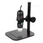 S04 25~600X USB Digital Photography Microscope Magnifier w/ 8-LED White Light - Grey + Black