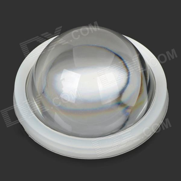 JR-66mm 1W 30 Degree Concave Glass Lens - Transparent + Silver