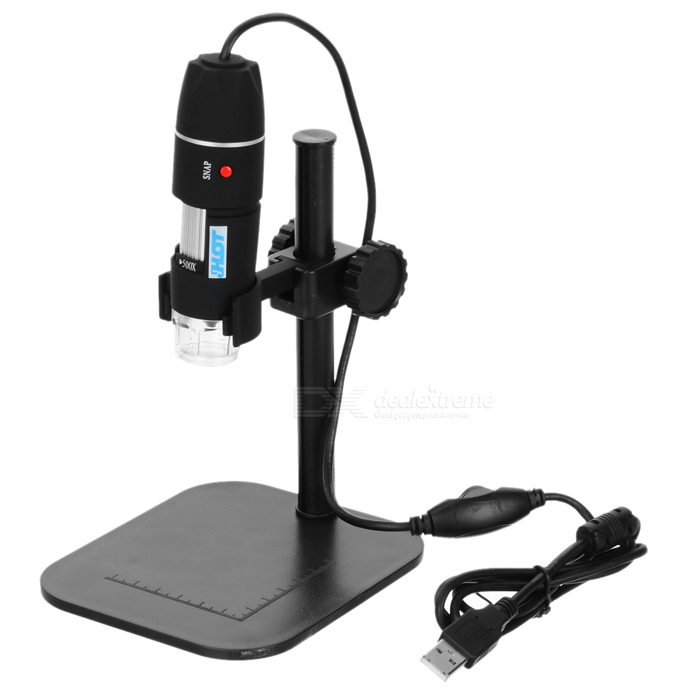500X Digital Microscope Magnifier w/ 8-LED White Light - Black