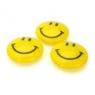 Funny Smiley Face Style Fridge Magnet - Yellow (3 PCS)