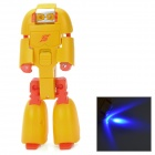 D3226B Transformers Style Blue LED Flashlight - Yellow + Red