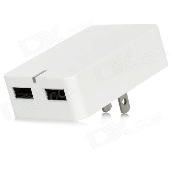 Dual USB Power Adapter Charger for Iphone 5 + More - White (2-Flat-Pin Plug / 100~240V) всё для бани и сауны