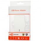Dual USB Power Adapter Charger for Iphone 5 + More - White (2-Flat-Pin Plug / 100~240V)