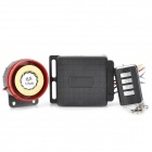 23 Motorcycle Anti-Theft Security Flash Alarm w/ Remote Controller - Black + Red (DC 12V)
