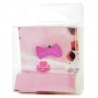 Cute Butterfly Tie Shape 3.5mm Jack Earphone Anti-Dust Kit for Iphone 4S - Deep Pink