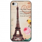 Eiffel Tower Pattern PC Back Case for Iphone 4 / 4S - Multicolored
