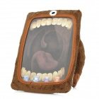 Cute One-Eye Cartoon Style Protective Flannelette Case for iPad Mini - Brown