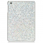 Shining Sequins Pattern Protective Plastic Back Case for iPad Mini - Silver