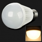 E27 5W 400lm 3500K 10-SMD 3528 LED Warm White Bulb - White (220V)