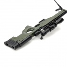 1:3 Stainless Steel AWP Sniper Rifle Display Model Toy - Black + Deep Green