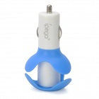 ipega I5021 Car Chargers / Cable Winder + USB Cable for iPhone 5 - Blue + White