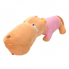 Cute Big Head Dog Toy Short Plush Throw Pillow - Tangerine + Pink + White (63cm)