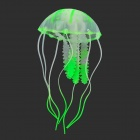 E5YK Emulation Small Jellyfish for Aquarium - Green + Transparent