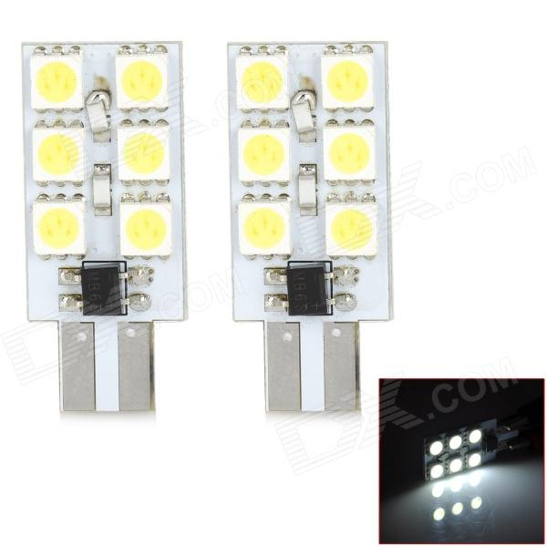 M201301062 T10 1.44W 120lm 6500K 6-SMD 3528 LED Car Bulbs - White + Silver + Yellow