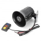 30W Car Motorcycle Three-Tone Horn Speaker Bugle - Black (DC 12V)